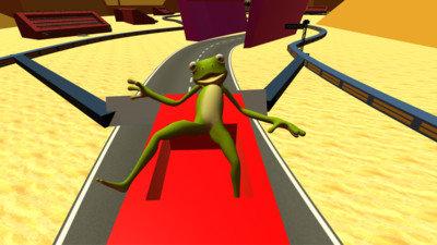 沙雕青蛙坐車