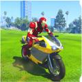 英雄驾驶摩托车