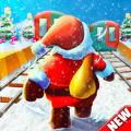 圣诞老人地铁冲浪