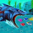 大鯊魚進食