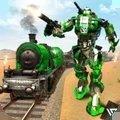 警察机器人火车救援
