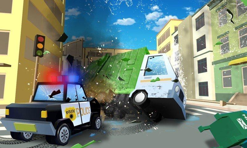 方块警车追逐安卓版