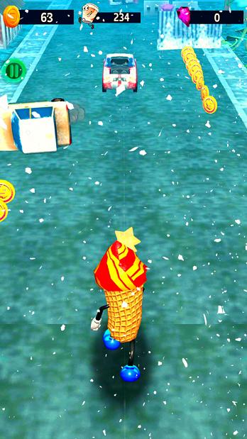 冰激凌跑步者