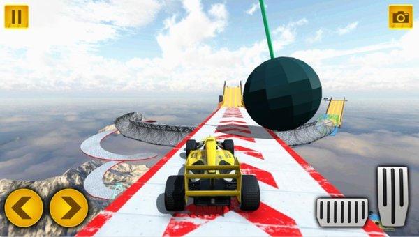 盛大式特技汽車游戲兆坡道汽車競速蘋果版截圖