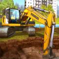 挖掘機和鏟斗模擬