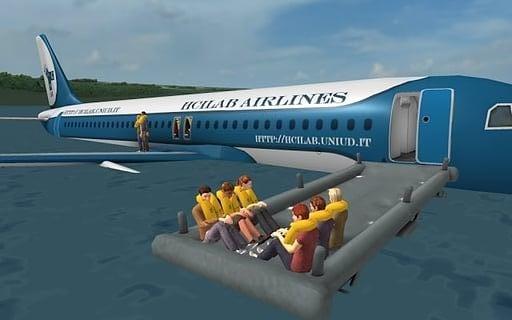 模拟飞机安全着陆