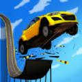 巨型坡道汽车跳跃特技