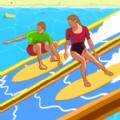 沙滩冲浪趣味赛