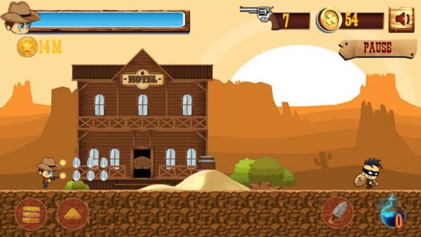牛仔追赶冒险游戏IOS版截图