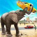 愤怒的大象城市攻击