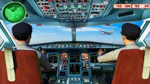 真实飞机模拟器截图