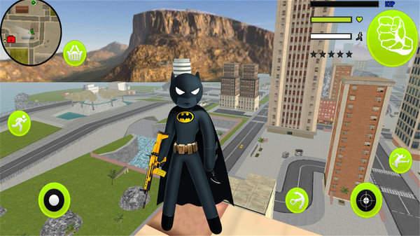 火柴人蝙蝠绳索侠游戏截图