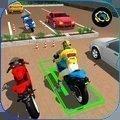 摩托車的停車場