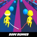 人类纤绳奔跑