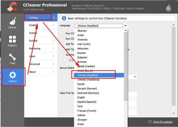CCleaner app