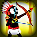 火柴人印第安弓箭手