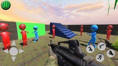 射击红色人