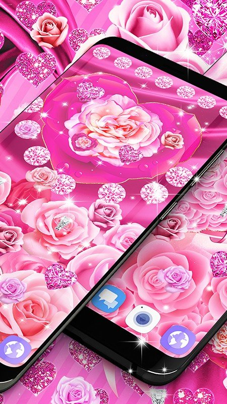 粉红玫瑰真丝动态壁纸