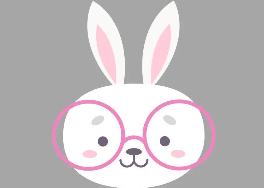 ai绘制兔子头像图片