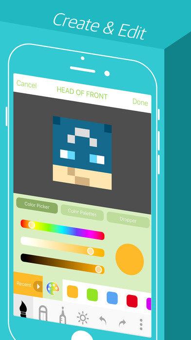 我的世界skinseed皮膚編輯器app截圖