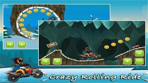 滚动摩托车是一款十分刺激好玩的摩托车竞速游戏,