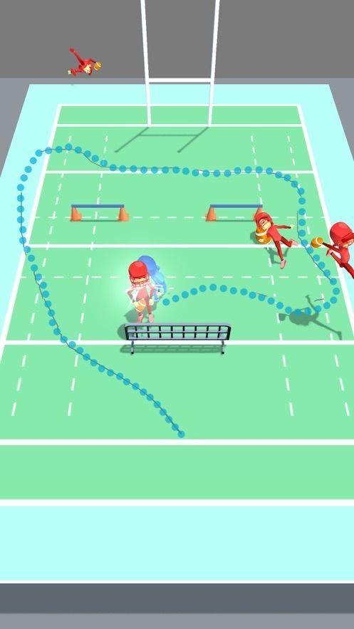 橄榄球击倒3D