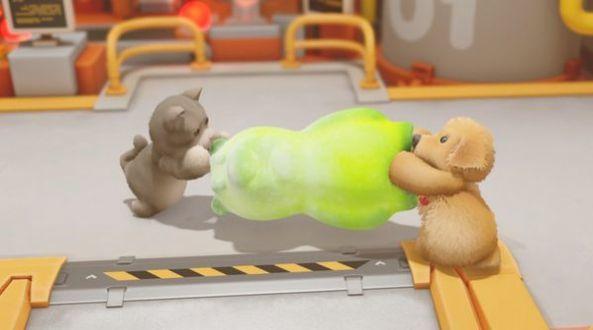 抖音一条小团团玩的兔子打拳游戏截图