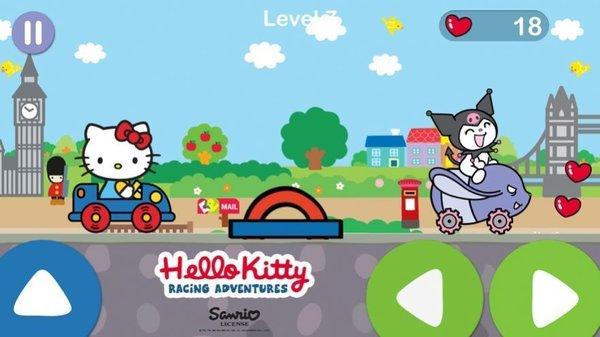 凯蒂猫飞行冒险是一款卡通风格的模拟闯关小游戏