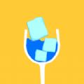 冰块玻璃杯