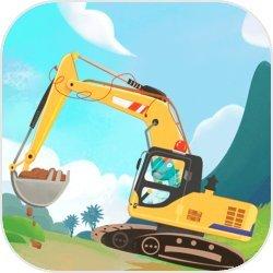 恐龙宝宝挖掘机