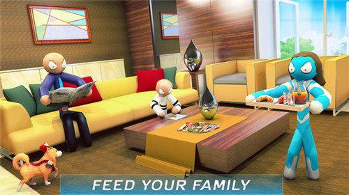虚拟火柴人家庭冒险截图