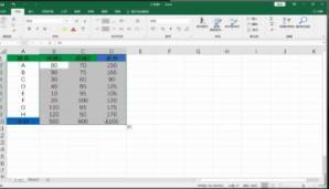 Excel快速求和的技巧