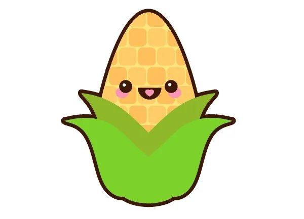 AI绘制卡通玉米