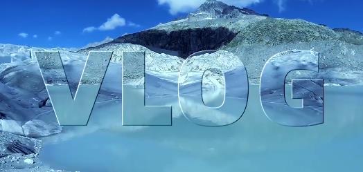 pr制作冰川玻璃文字