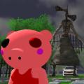 逃脱警笛喉头的小猪