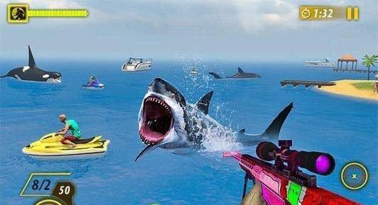 鲨鱼狩猎动物射击游戏下载-鲨鱼狩猎动物射击手机版下载