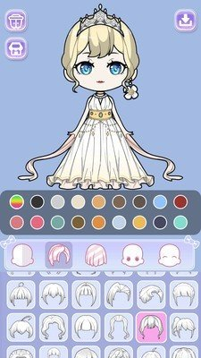 公主的二次元故事为玩家们带来了满满二次元画风的趣味换装小游戏