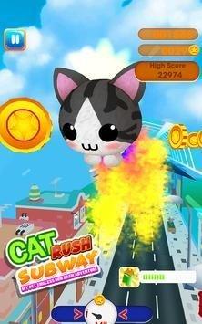 猫猫赶地铁