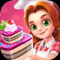 儿童公主做蛋糕