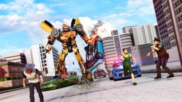 大黄蜂变形战斗游戏下载-大黄蜂变形战斗手机版下载