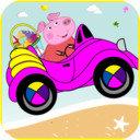 小猪佩奇海上开车