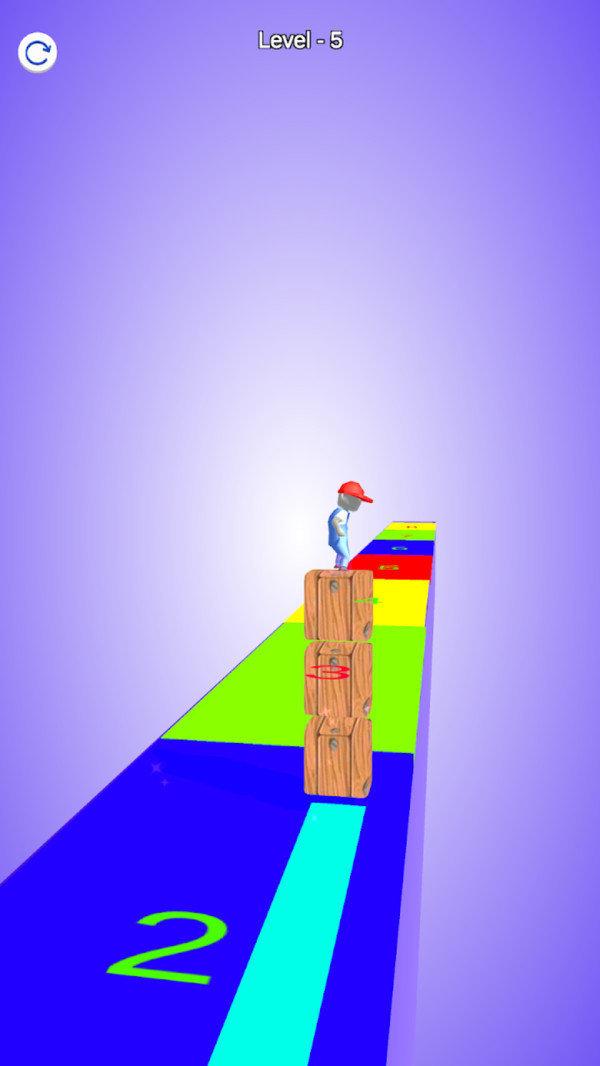 彩色方块冲浪