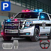 真實警車停車場3D