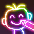 闪亮的荧光涂鸦