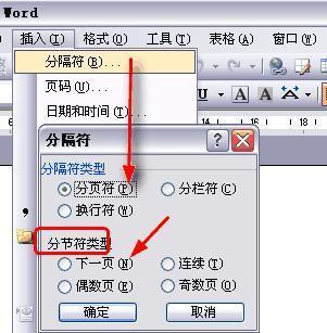 如何在wps中插入下一页分节符