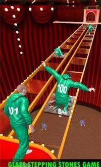 鱿鱼游戏钢化玻璃桥