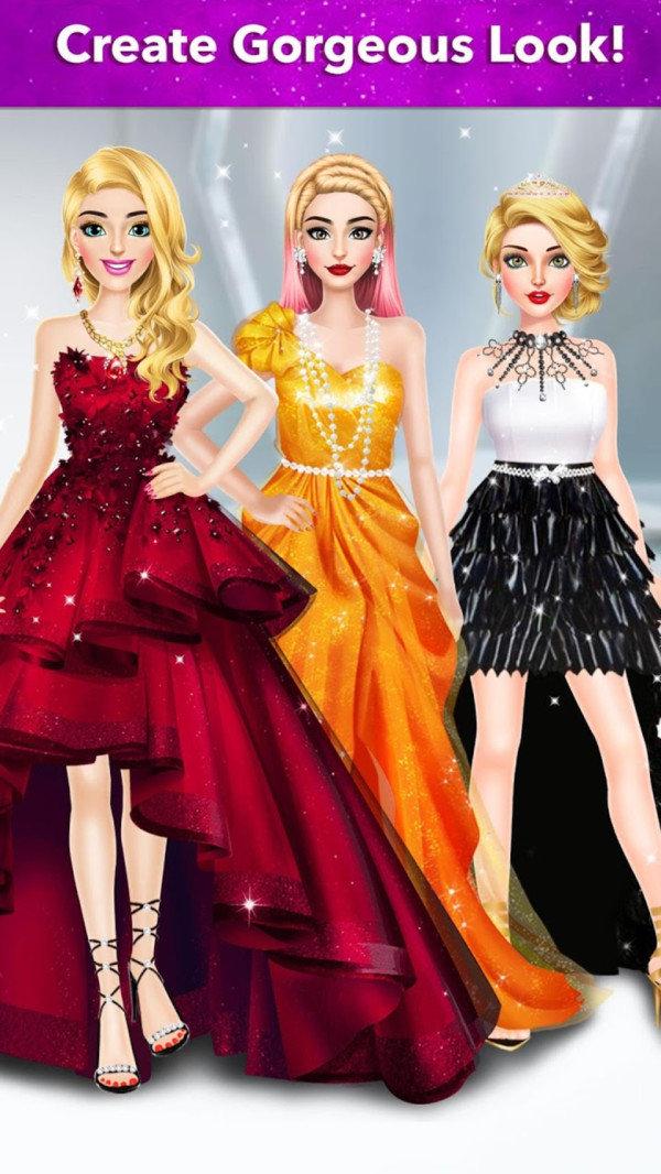 红地毯时尚女孩