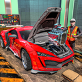 汽车修理工工作坊