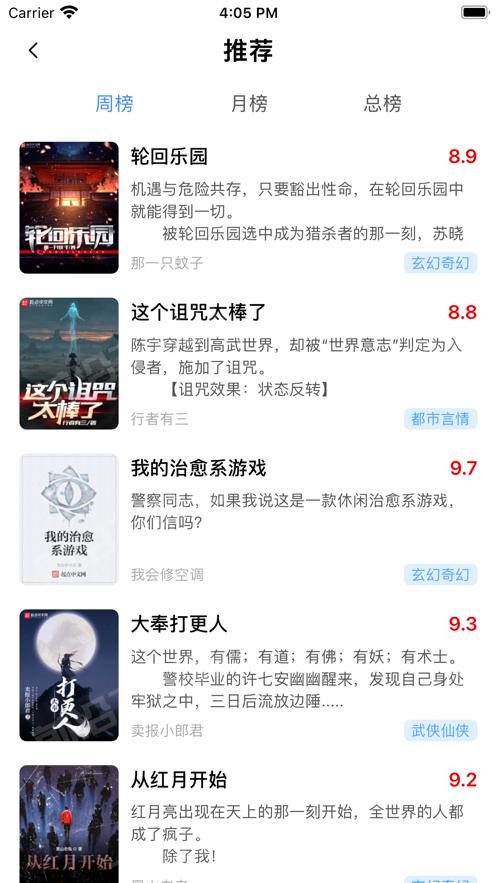 轻衫小说app