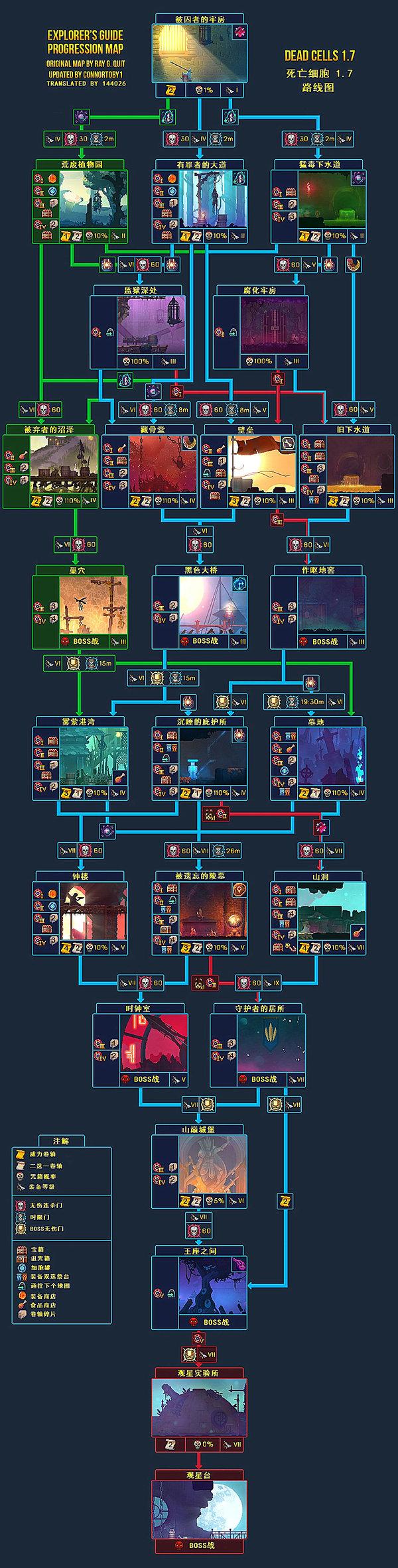 死亡细胞1.7破解版手机版(路线图)下载-死亡细胞1.7破解版版本更新内容(皮肤)下载